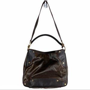MZ Wallace Kit Bedford Brown Nylon Leather Hobo